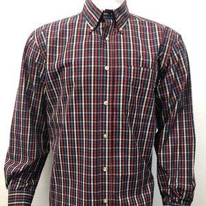 T HARRIS London Long Sleeve Plaid Shirt Large